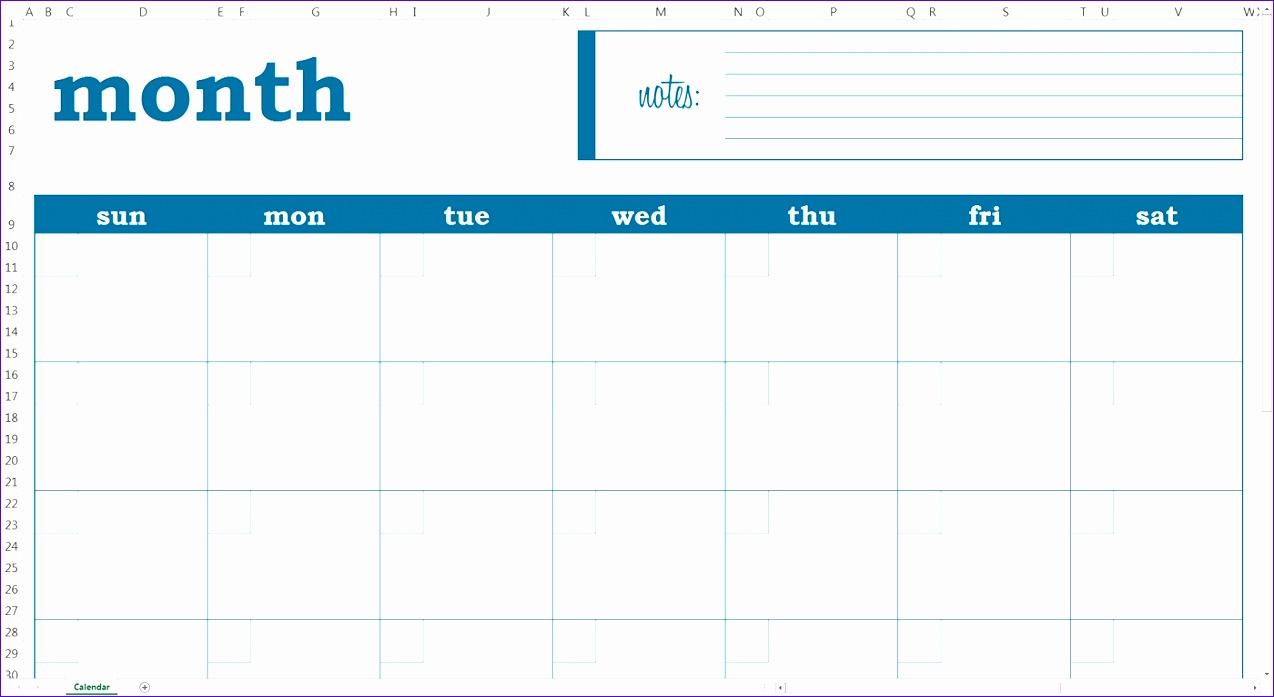 blank monthly calendar excel template savvy spreadsheets 1274697