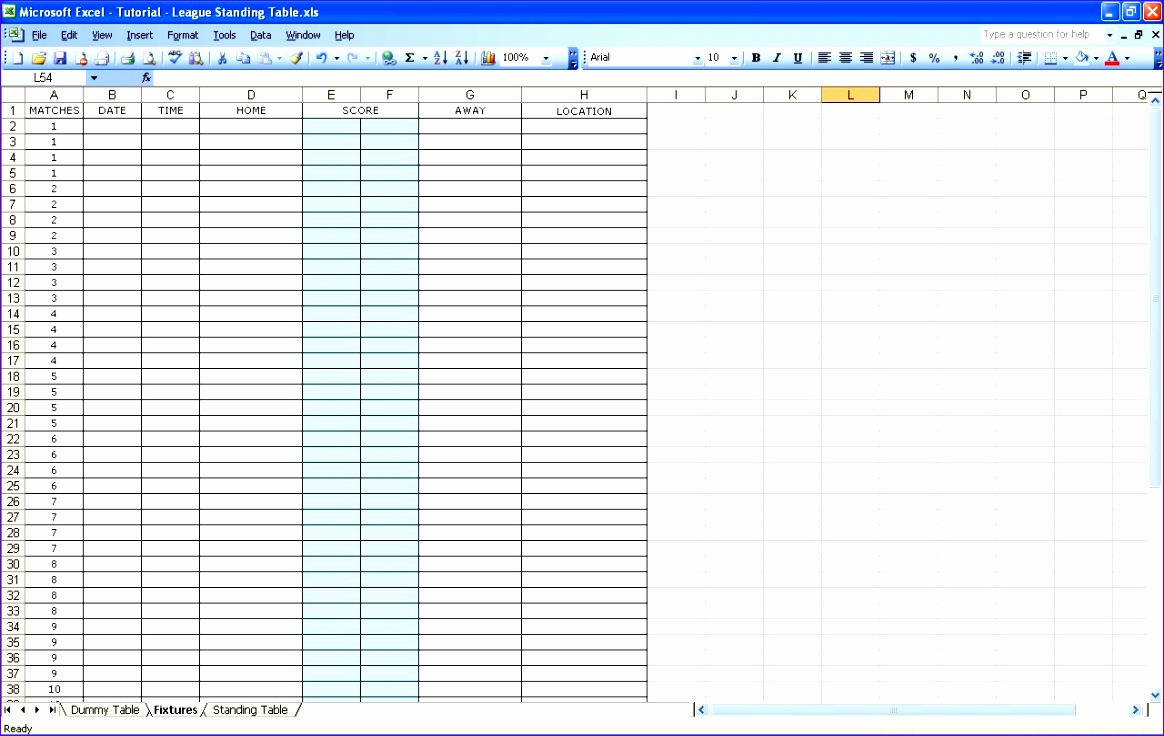 league standing excel templates spreadsheets create sports league 1164736