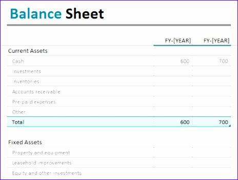 Balance sheet TM 464351