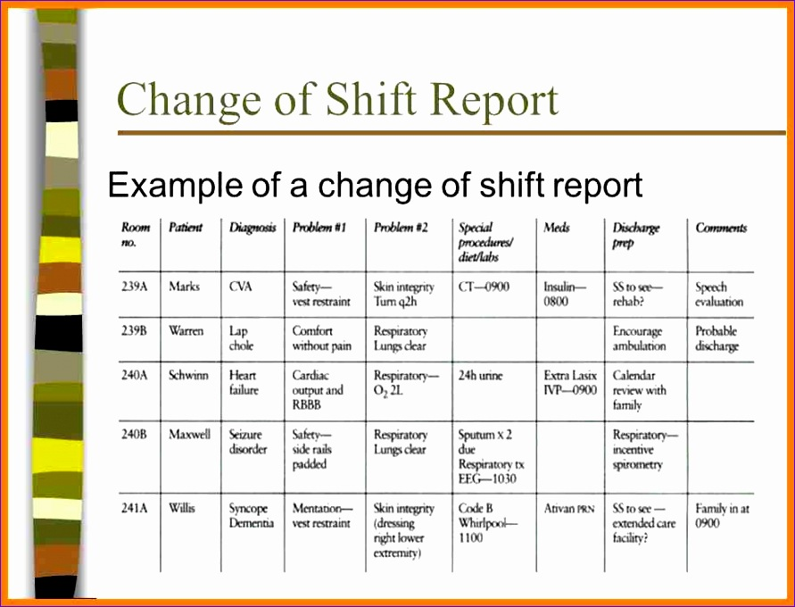 shift report template 891680