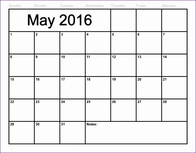 blank calendar to print 669522