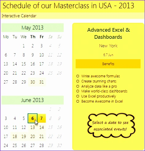 how to create interactive calendar to highlight events appointments tutorial 472490
