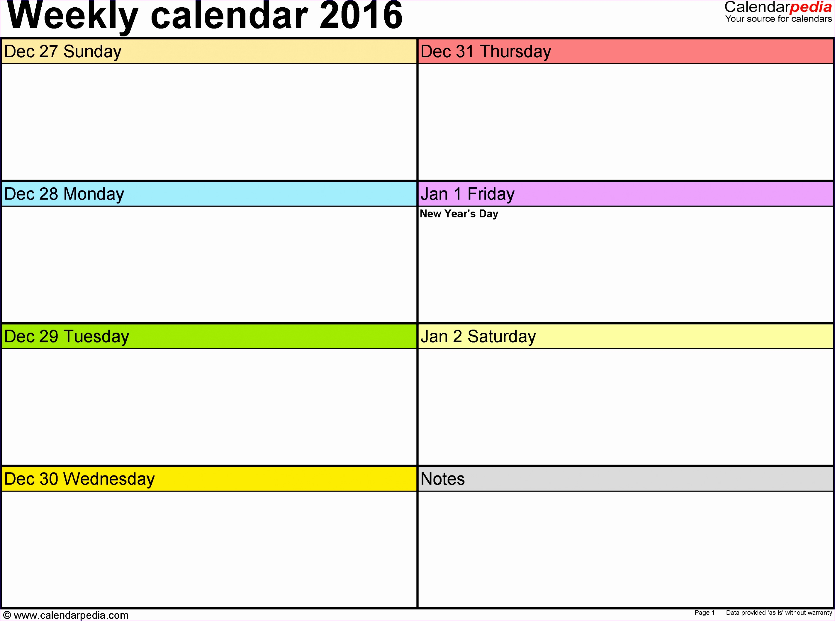 weekly calendar 2016 for word 12 free printable templates 25 28482116