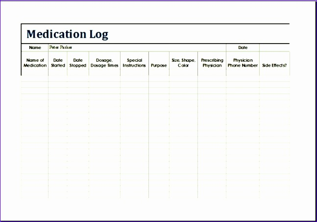 patient medication log template 647453