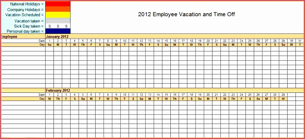 7 sick and vacation spreadsheet 1031472