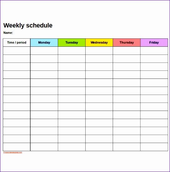 schedule template in excel 546552