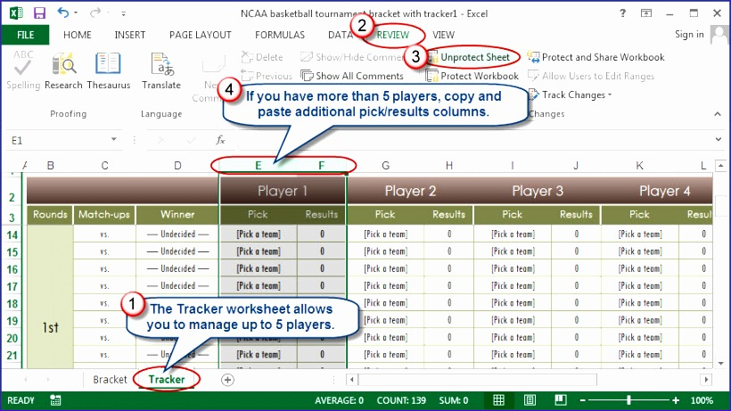 excel the indispensable ncaa bracket tool