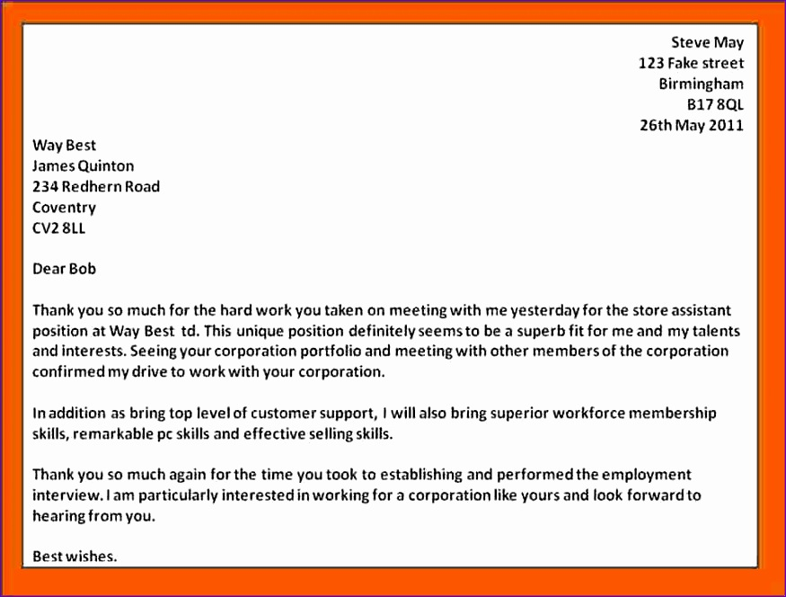 7 job interview thank you note 875664
