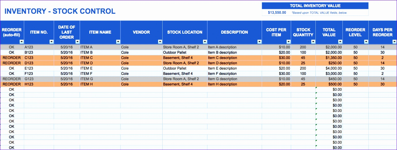 free excel spreadsheet inventory management 1377521