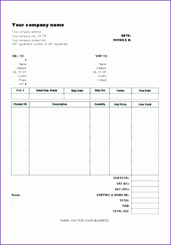 vat invoice template 673 343492
