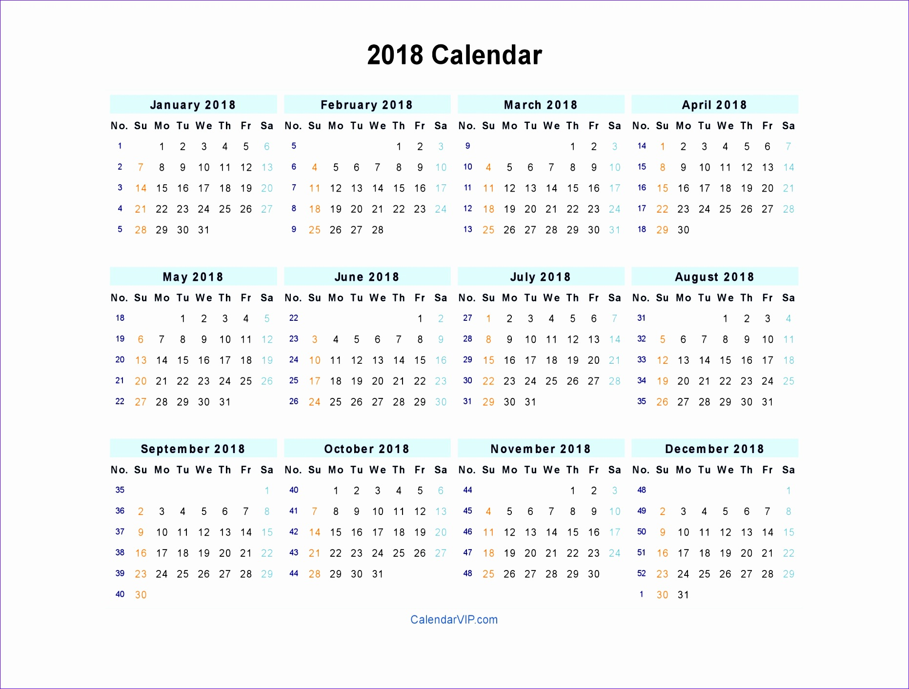 weekly calendar 2018 75 18631413
