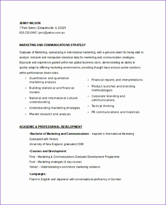 marketing resume samples for successful job hunters 546671