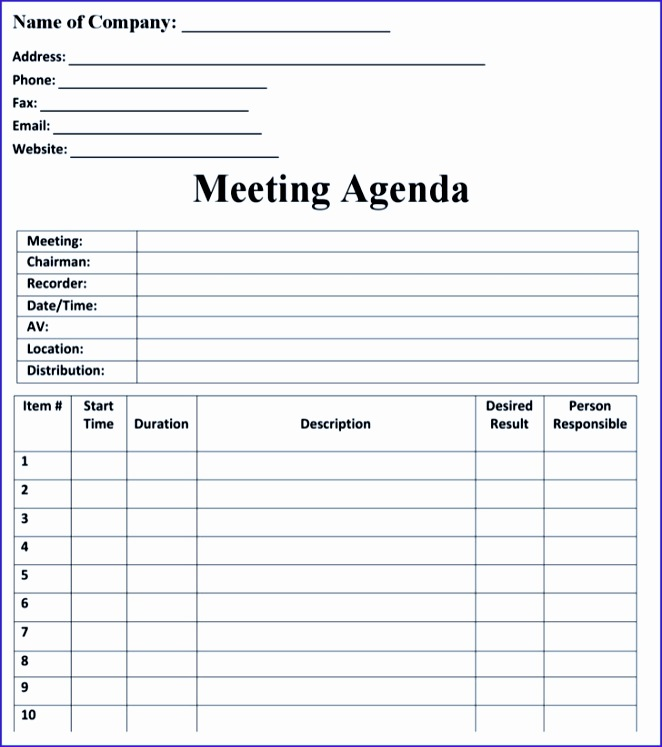 blank meeting agenda templates 662747