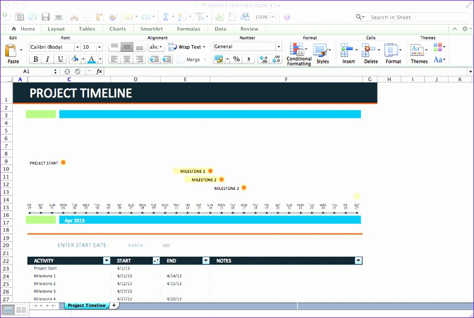 project timeline excel template 964648