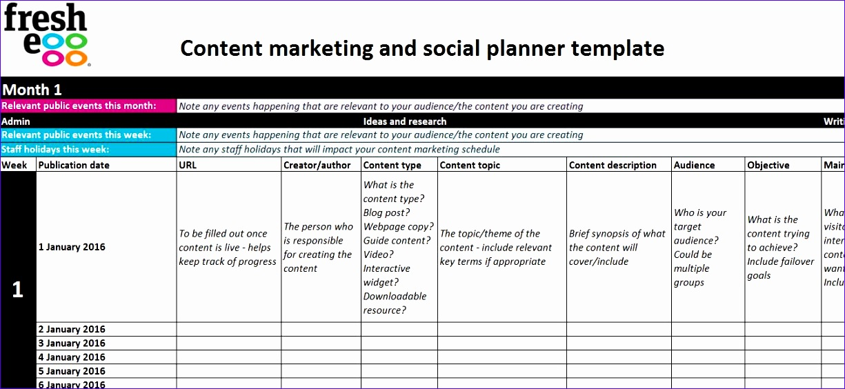 Excel Template Timeline Hleha Awesome 6 Steps to Creating A Content Marketing and social Plan 1347614