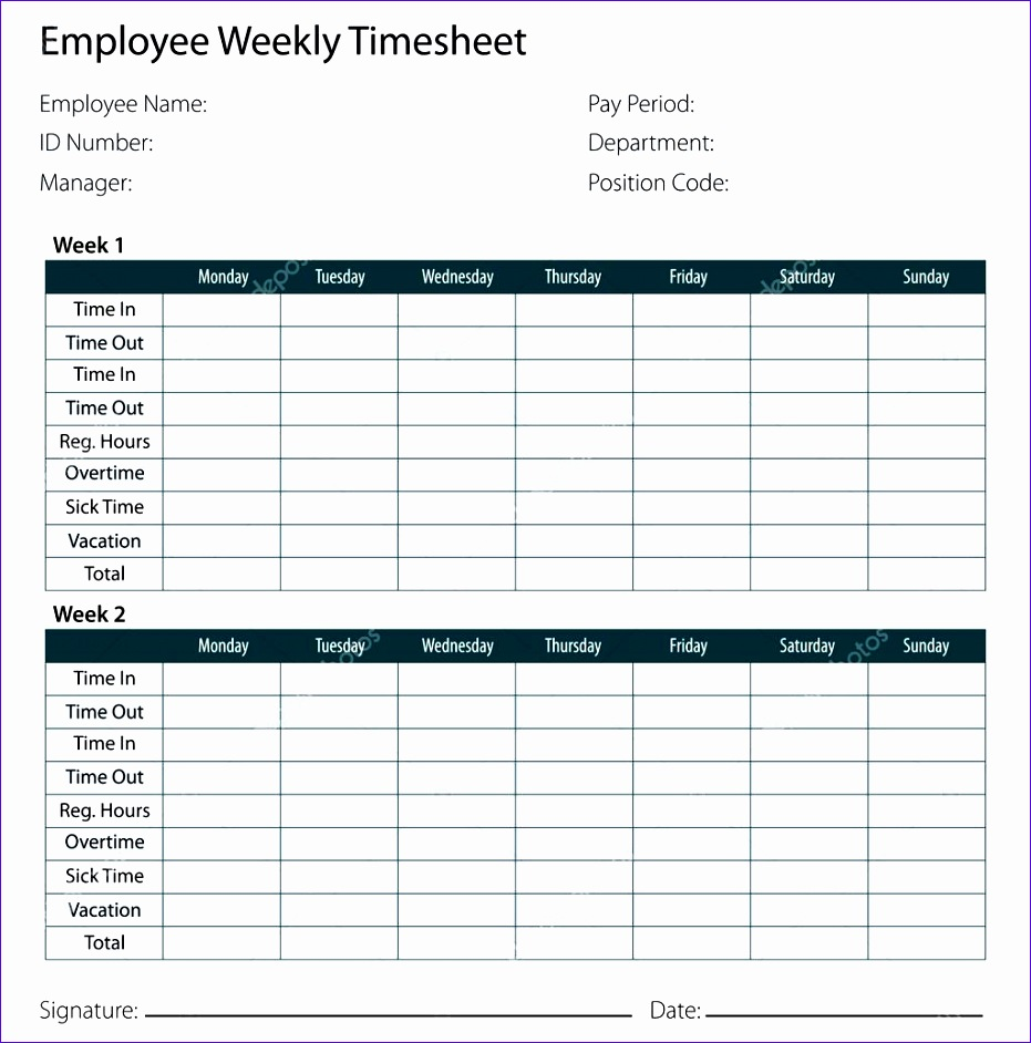 stock illustration employee timesheet template