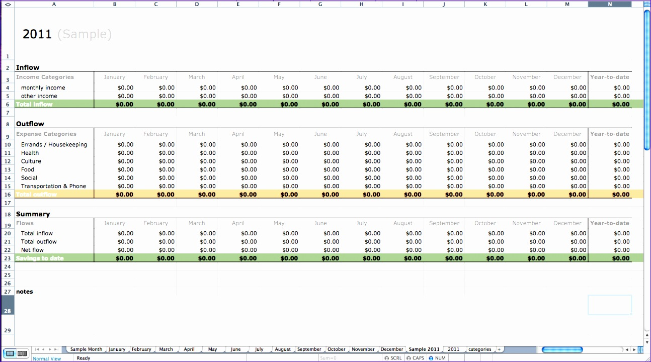 accounting excel templates