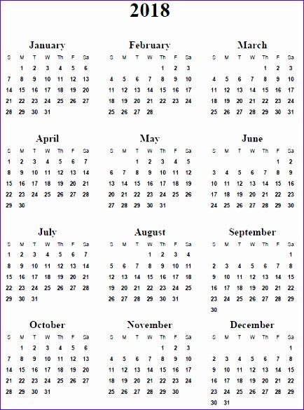 yearly calendar 2018 2684