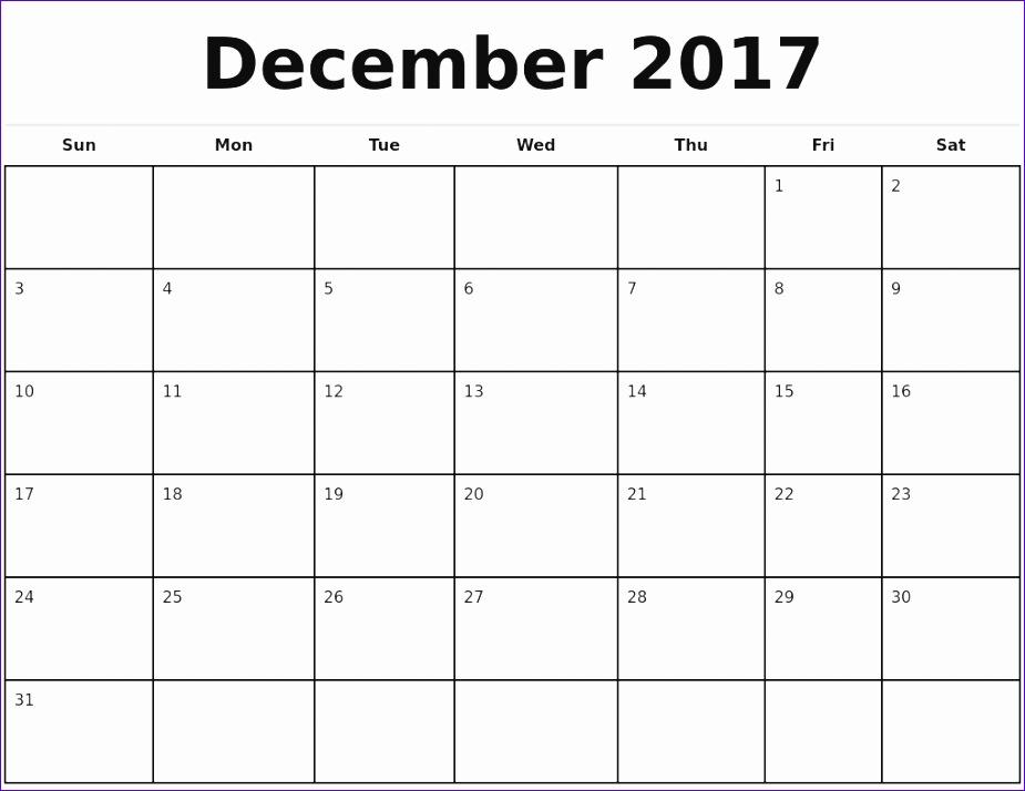 2017 monthly calendar template 2 988 925714