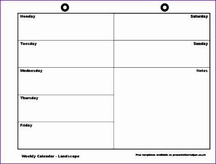 blank weekly calendar template 1099 425322