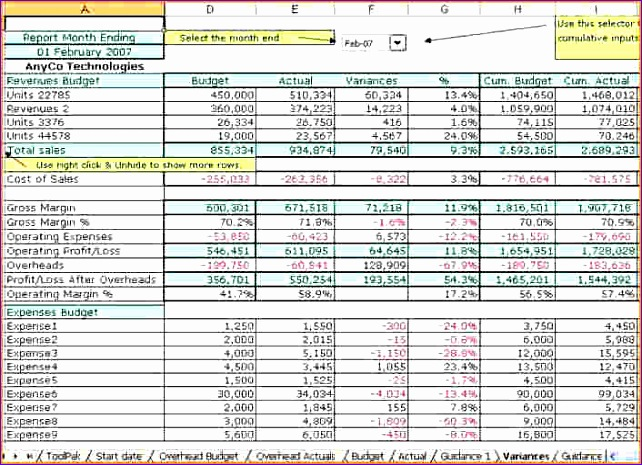 10 excel accounting templates