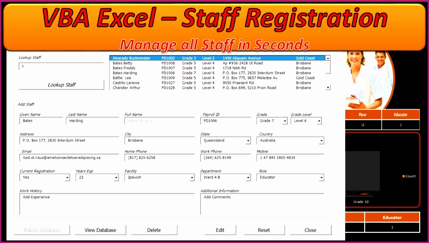 employee database excel template 647 880500