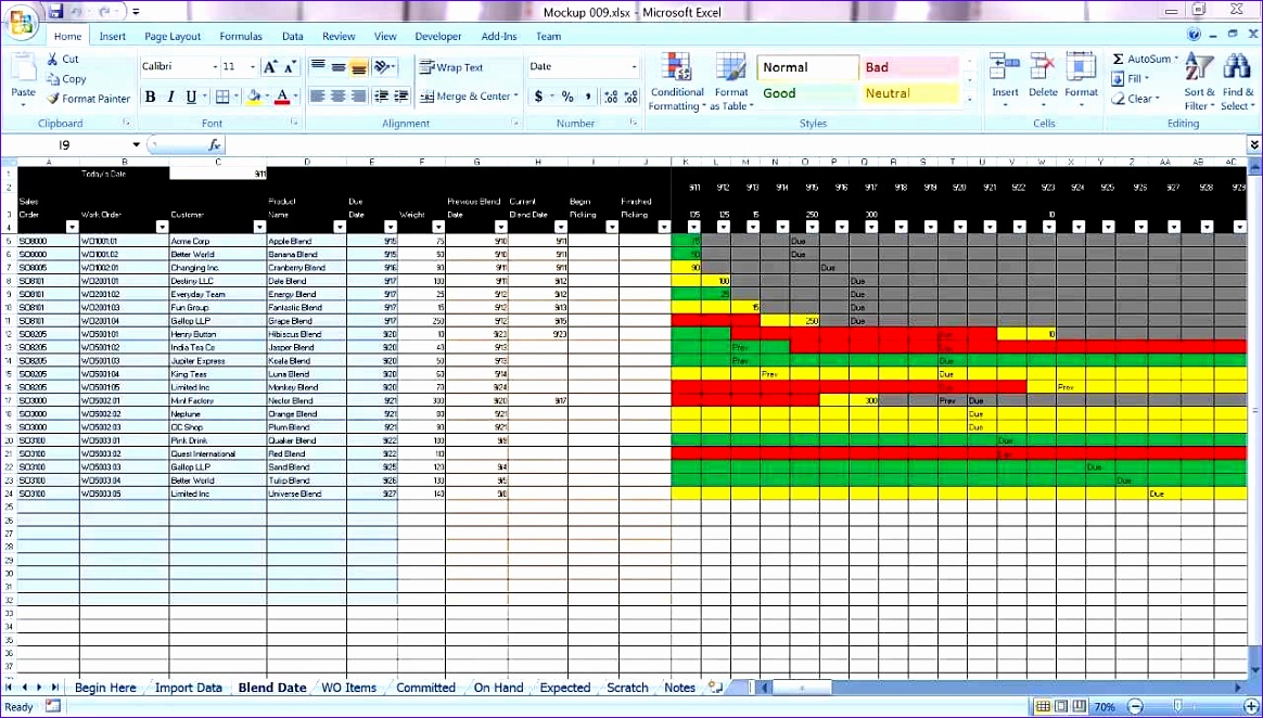 10 excel templates for project planning