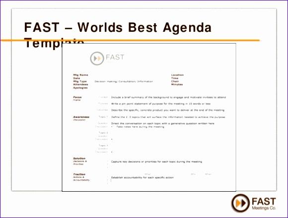 work agenda template 580440