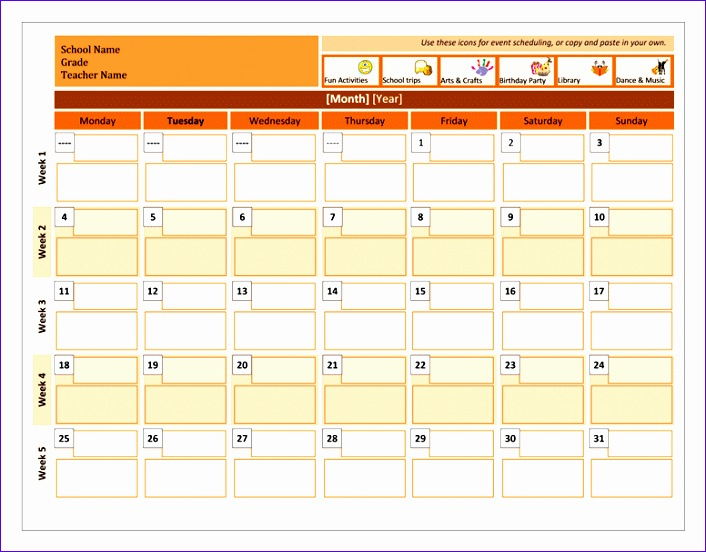 Excel Templates for Scheduling Veffp Awesome Class Calendar Fice Templates 776600