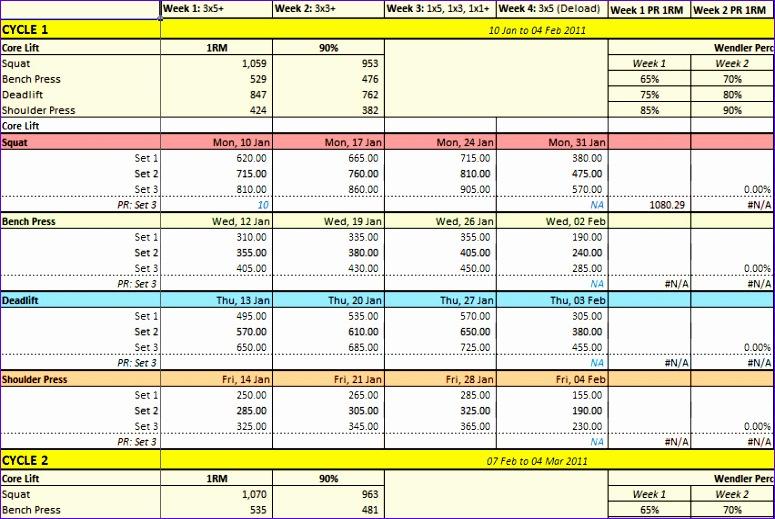 weight lifting tracking sheet