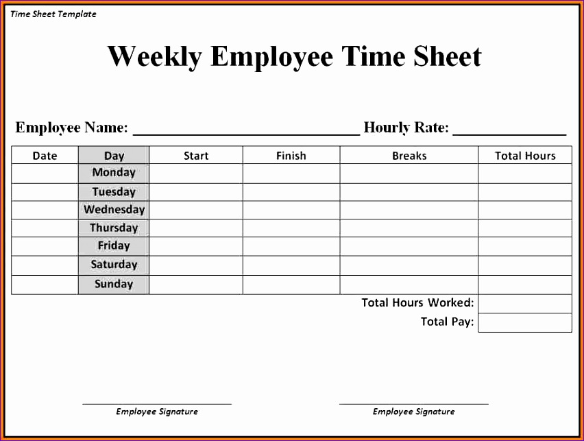 sample blank timesheet 6 documents in pdf 852643
