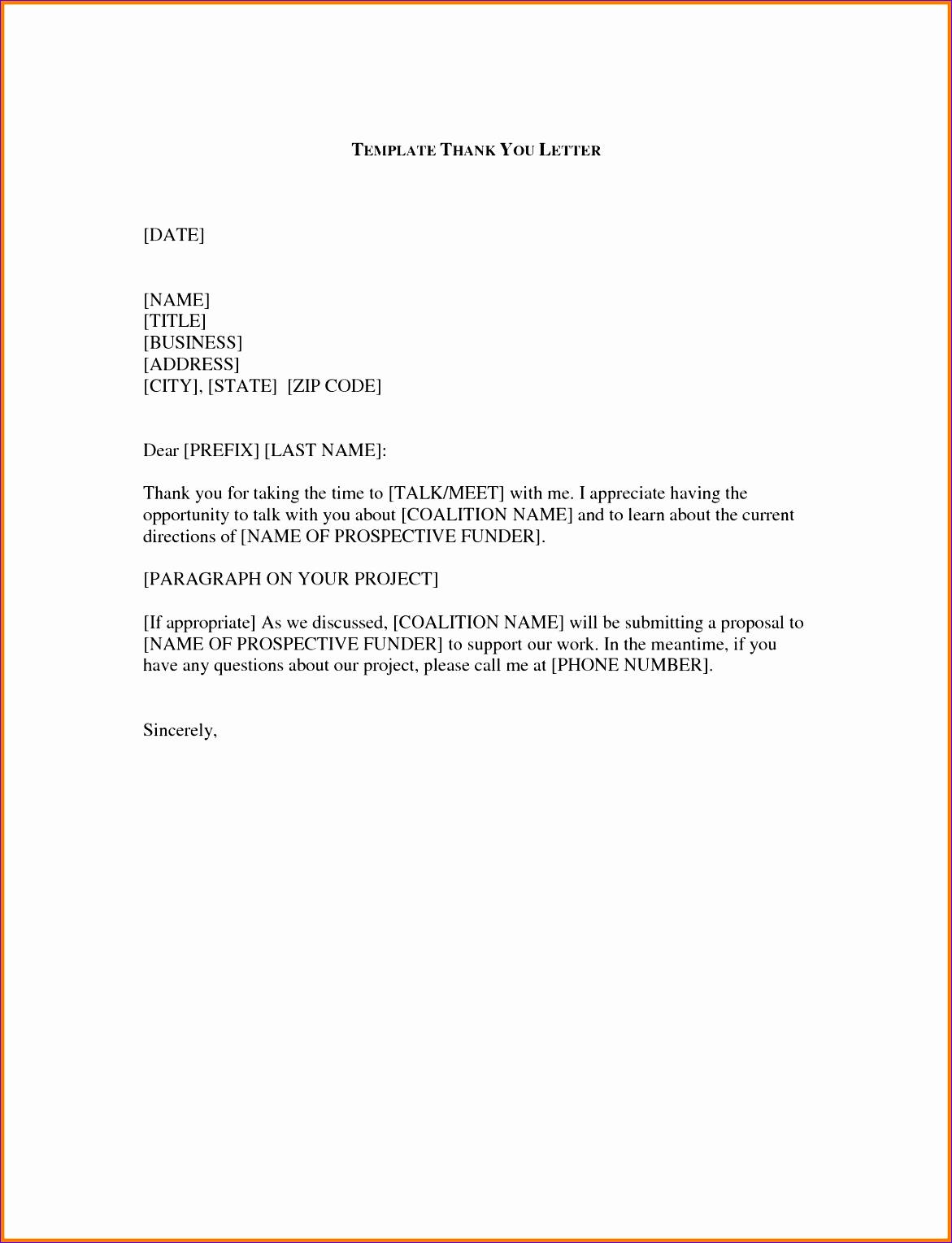 sample thank you for your time business letter 11711529