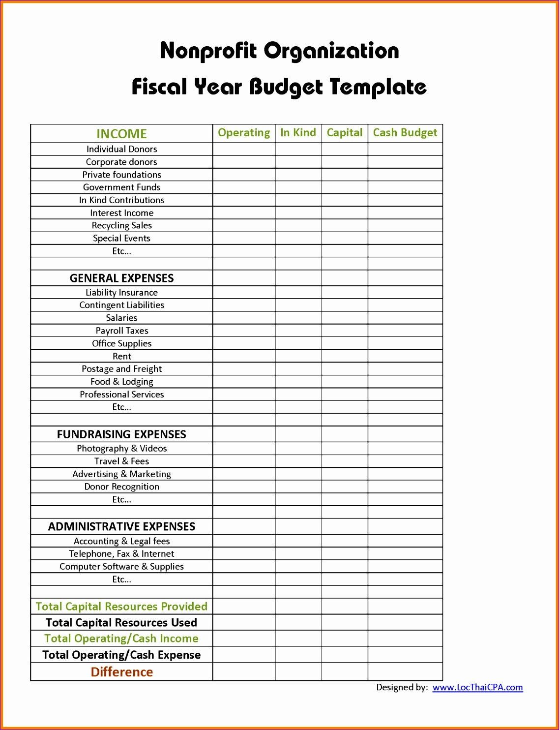 9 non profit bud template 11371484