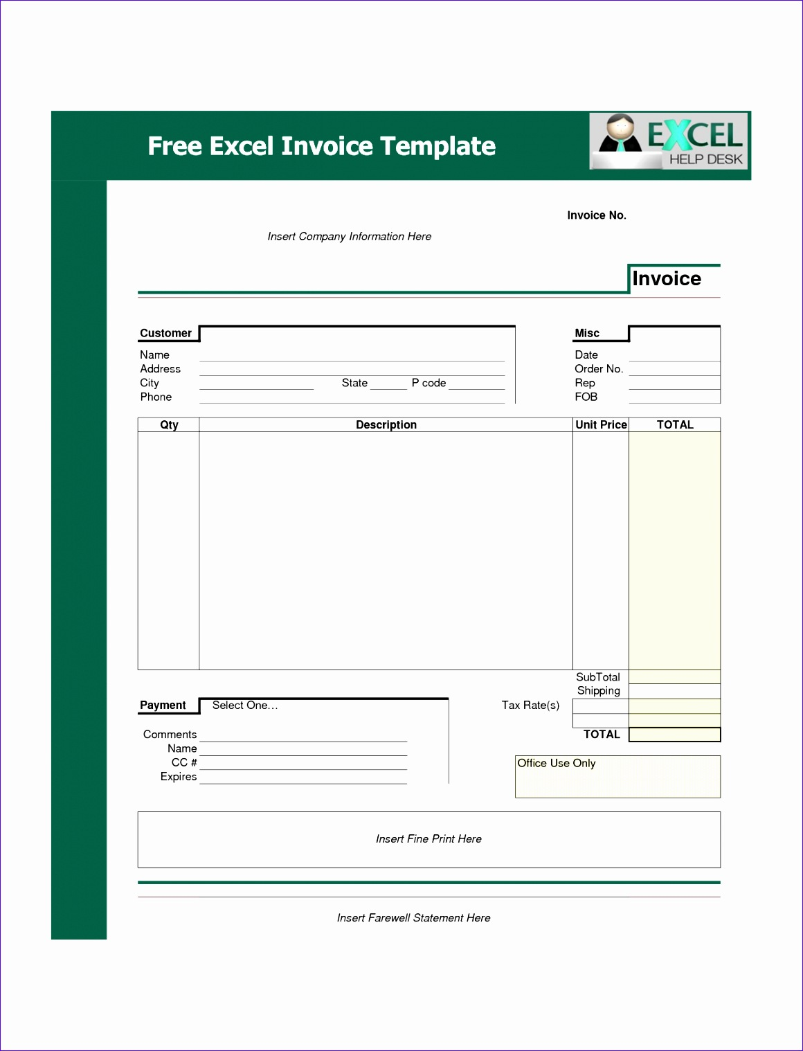 post invoice format in excel 11601518
