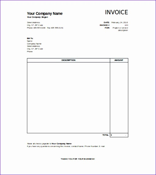 blank invoice template 532598