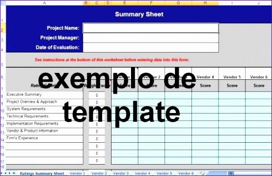 Excel Templates Jpaul Lovely formulário De Avaliação De Propostas De fornecedores 600386