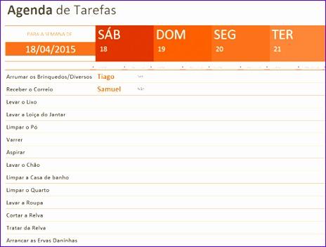 Excel Templates Pw3sg Unique Agenda De Tarefas Templates Fice 510382