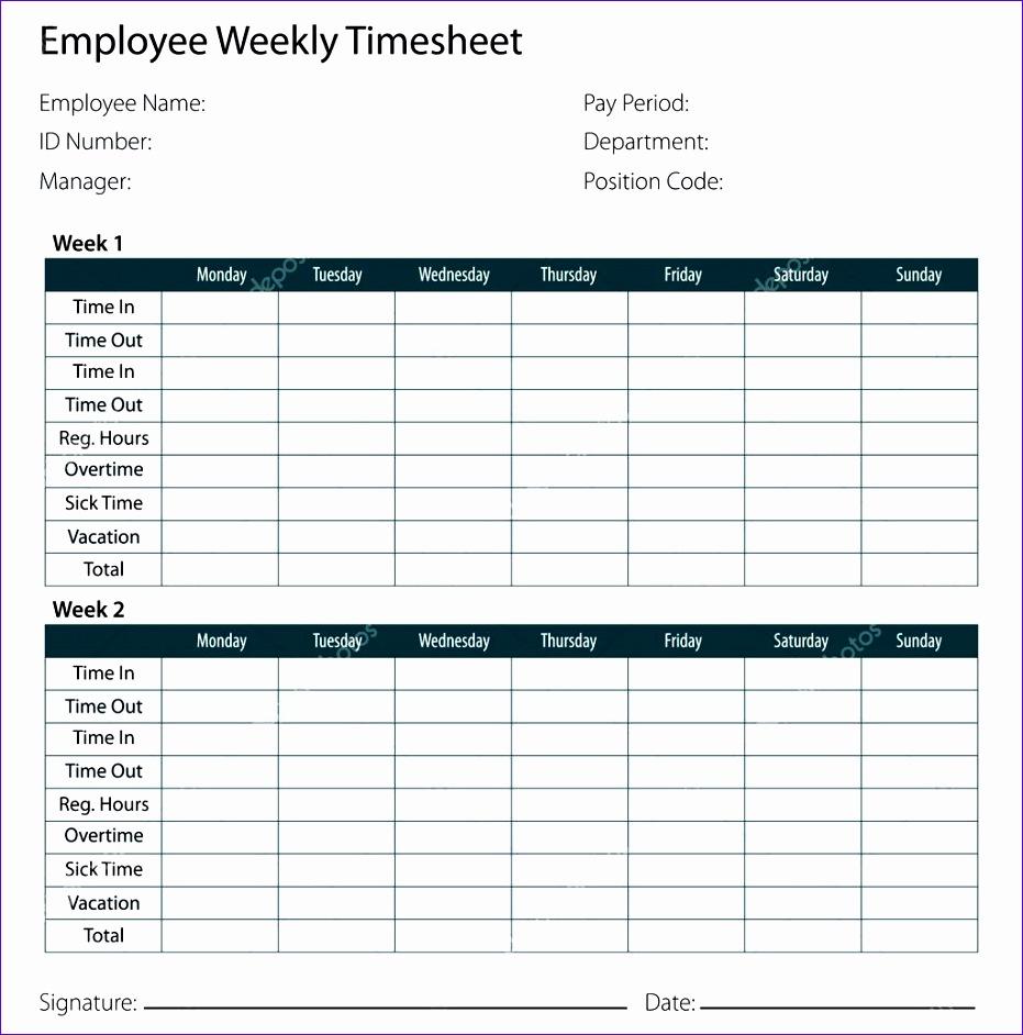 stock illustration employee timesheet template 931942