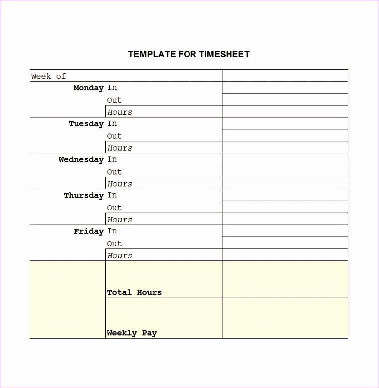 timesheet templates 760777