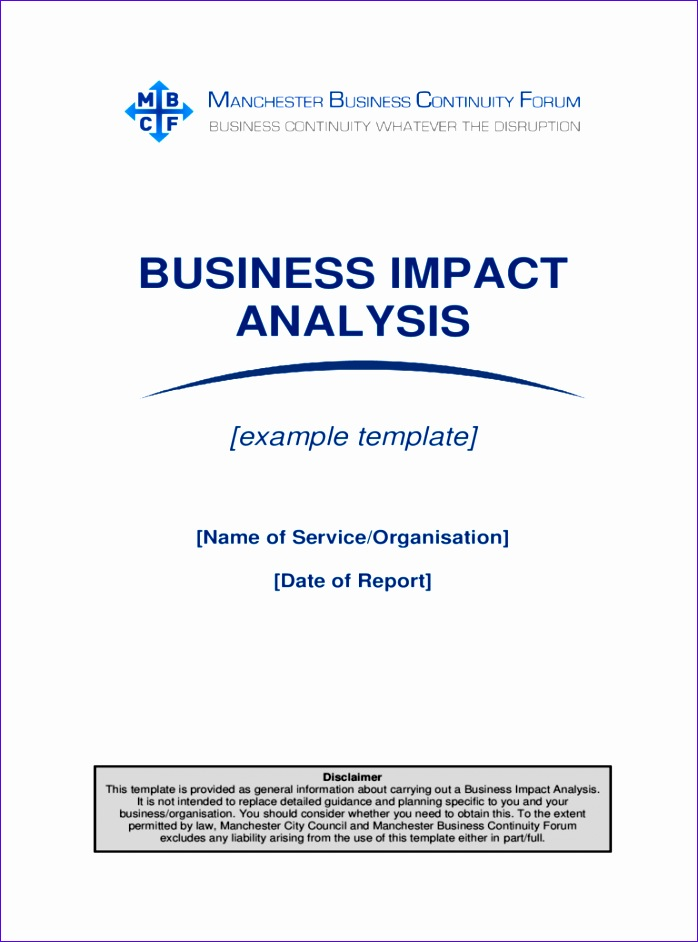 business impact analysis template 698942