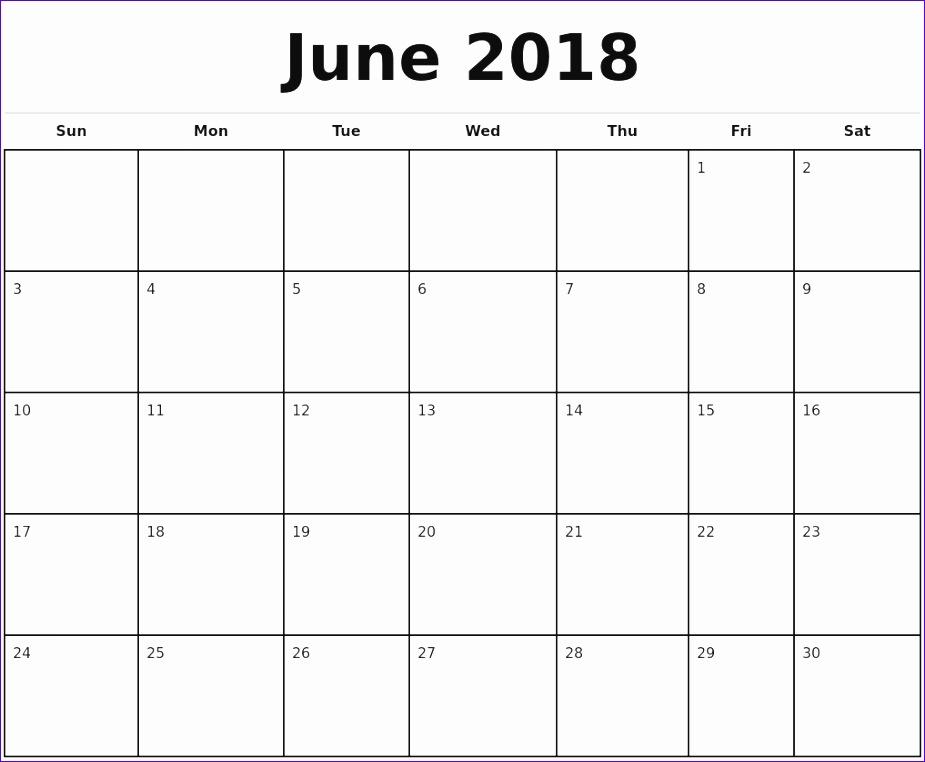 june 2018 calendar template 286 925762