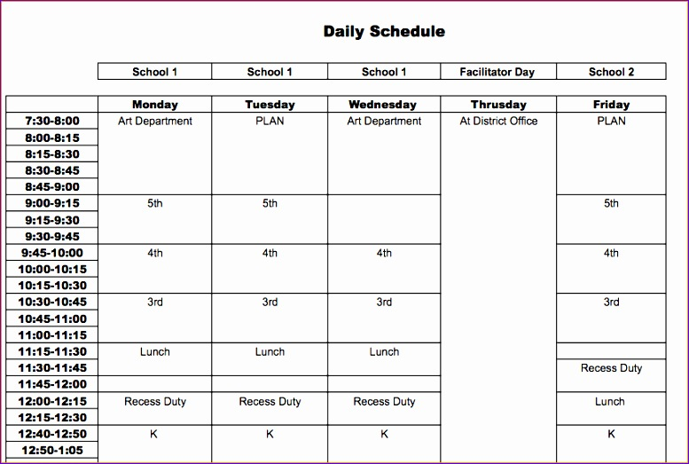 10 Excel Templates Weekly Schedule - ExcelTemplates - ExcelTemplates