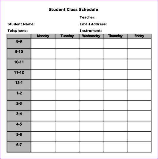10 excel templates weekly schedule - exceltemplates