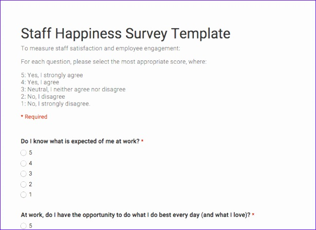 staff happiness survey template 649473