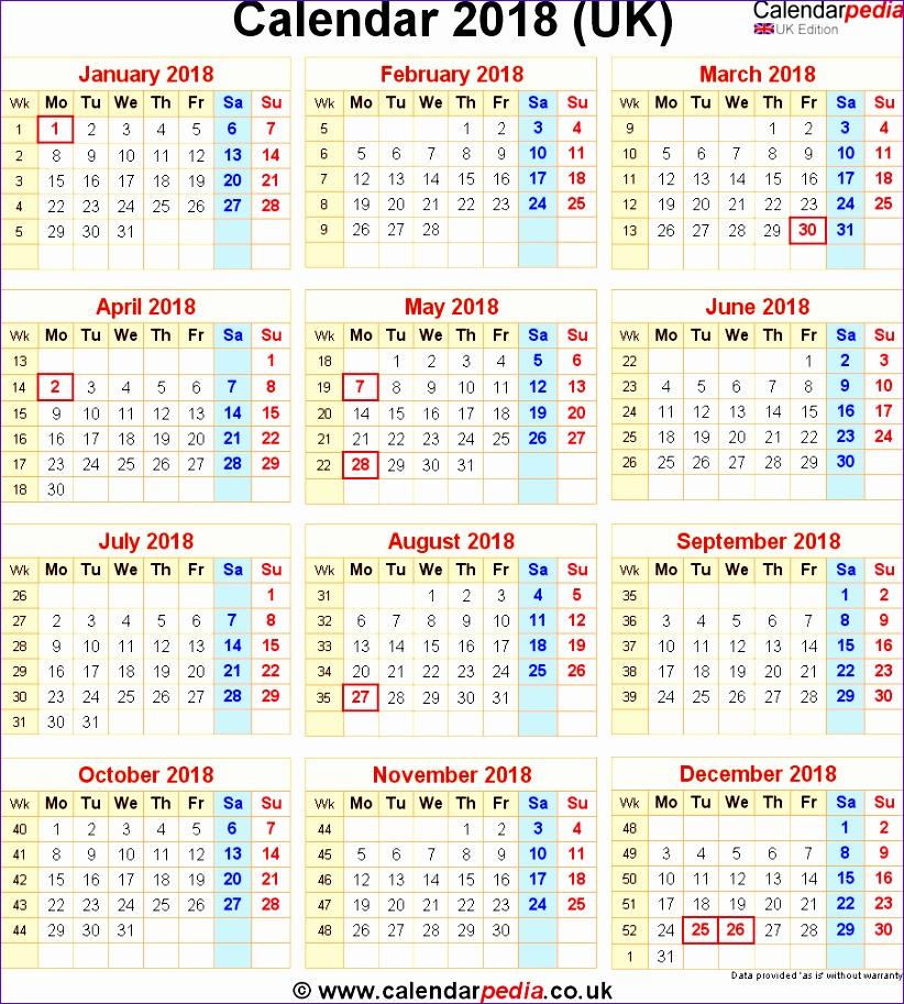 2018 calendar uk 1878 822913