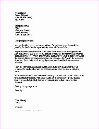letter apologizing for multiple billing 230 404529