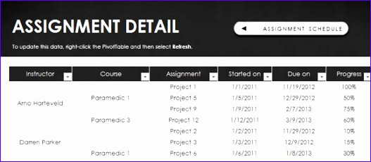 free assignment schedule template for excel 2013 527230