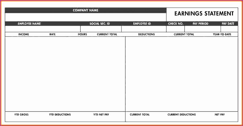 7 free blank pay stub template 931484