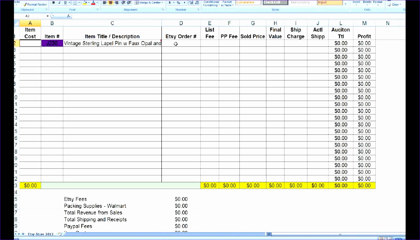inventory tracking spreadsheet template 1733993