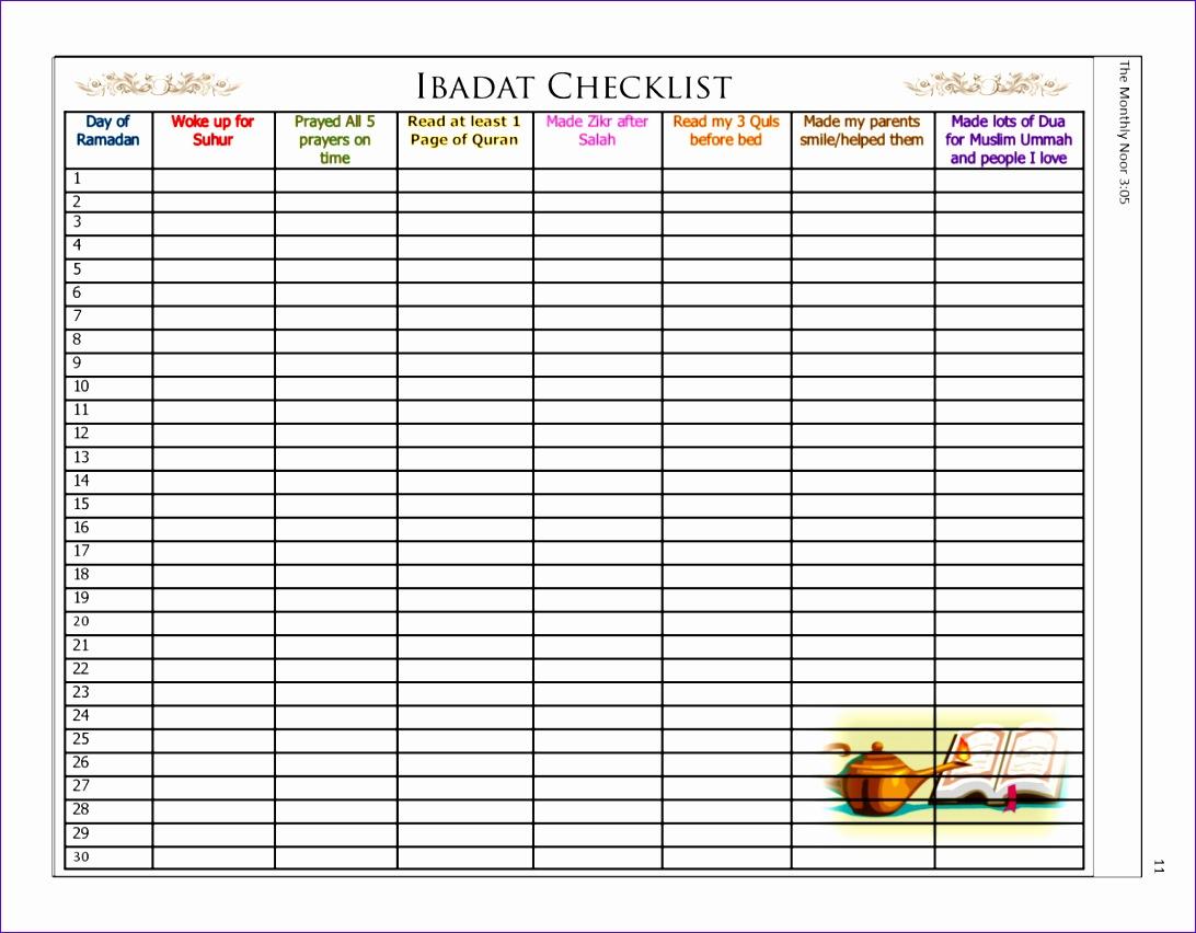 ramadan sharif ibadat checklist 1092852
